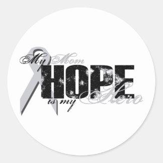Mamá mi héroe - esperanza del pulmón etiquetas redondas