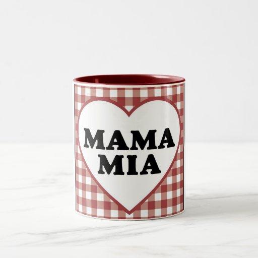 Mamá Mia Cup Taza De Café De Dos Colores