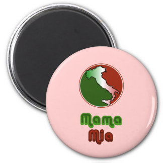 Mama Mia Italian 2 Inch Round Magnet