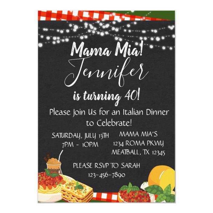 Mama Mia Italian Dinner Party