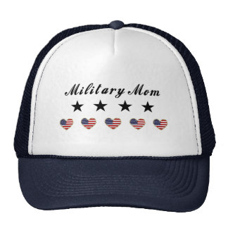 Mamá militar gorros bordados