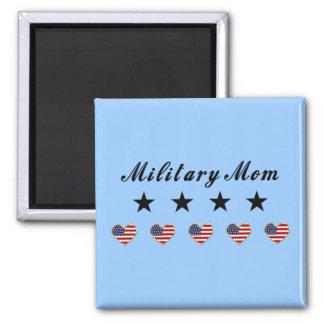 Mamá militar imán de frigorifico