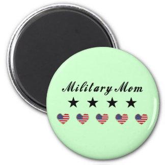 Mamá militar iman de frigorífico
