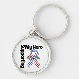Mamá - militar que apoya a mi héroe llavero personalizado