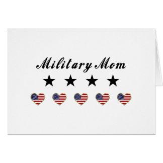 Mamá militar felicitación