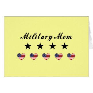 Mamá militar tarjeta