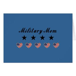 Mamá militar tarjeton