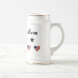 Mamá militar tazas