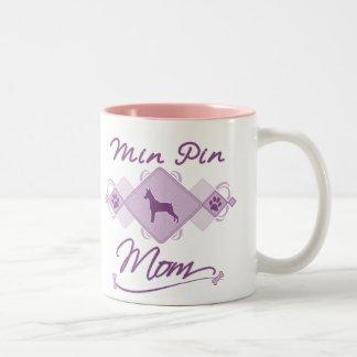 Mamá mínima del Pin Taza De Dos Tonos