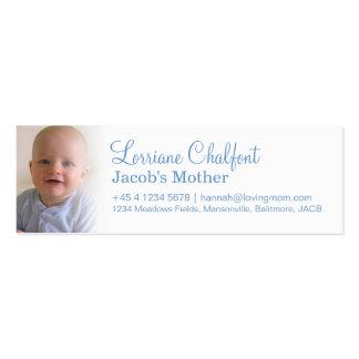 Mamá/momia que llama tarjetas de información tarjetas de visita mini