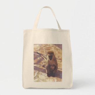 Mama Monkey And Her Baby Tote Bag