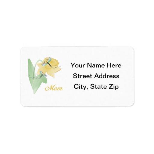 Mamá (narciso) etiquetas de dirección