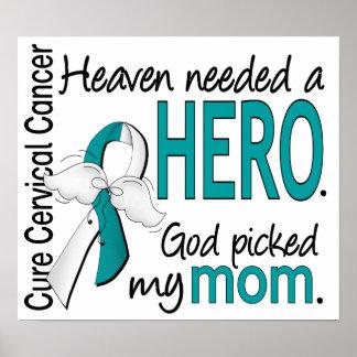 Mamá necesaria del cáncer de cuello del útero del  poster
