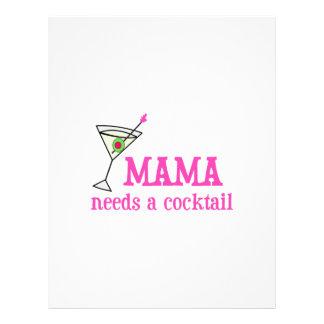 MAMA NEED A COCKTAIL LETTERHEAD DESIGN