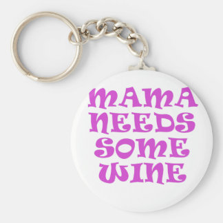 Mama Needs Some Wine Keychain