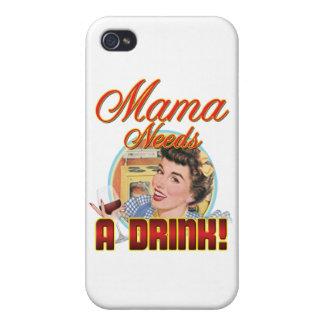 Mamá Needs una bebida iPhone 4/4S Funda