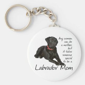 Mamá negra del laboratorio llavero