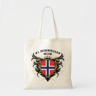 Mamá noruega del número uno bolsa tela barata
