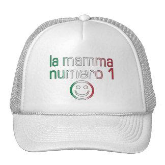 Mama Numero 1 del La (mamá del número 1 en italian Gorros
