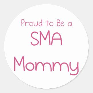 Mamá o mamá de SMA Etiquetas Redondas