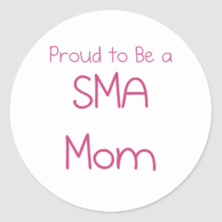 Mamá o mamá de SMA Pegatinas Redondas