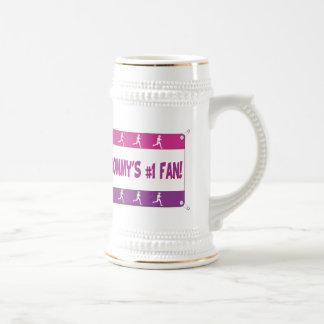 Mamá o papá # 1 fan jarra de cerveza