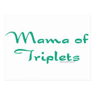 Mama of Triplets Postcard