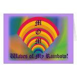 ¡MAMÁ, ondas de mi arco iris! - Personalizar Tarjetas