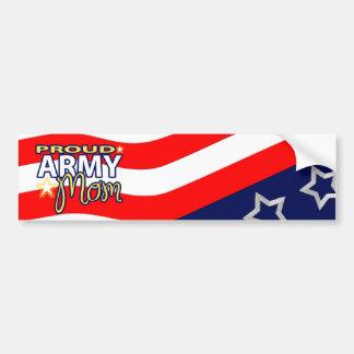 Mamá orgullosa Bumpersticker del ejército Pegatina De Parachoque
