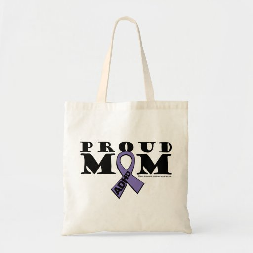 Mamá orgullosa de ADHD Bolsas Lienzo