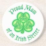Mamá orgullosa de Irish Setter Posavasos Manualidades