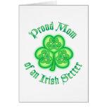 Mamá orgullosa de Irish Setter Tarjeta