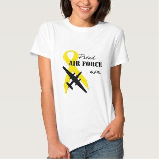 Mamá orgullosa de la fuerza aérea camisas