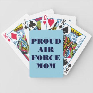 Mamá orgullosa de la fuerza aérea de los naipes cartas de juego