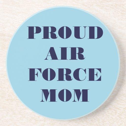 Mamá orgullosa de la fuerza aérea del práctico de  posavasos cerveza