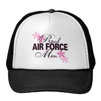 Mamá orgullosa de la fuerza aérea gorro