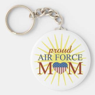 Mamá orgullosa de la fuerza aérea llaveros