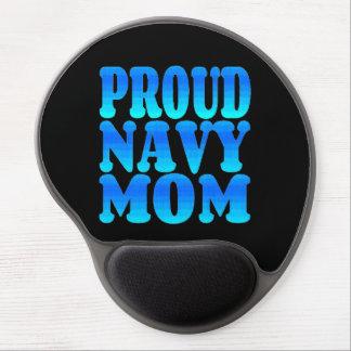 Mamá orgullosa de la marina de guerra alfombrillas de raton con gel