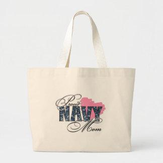 Mamá orgullosa de la marina de guerra bolsa de mano