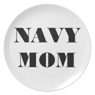 Mamá orgullosa de la marina de guerra de la placa plato