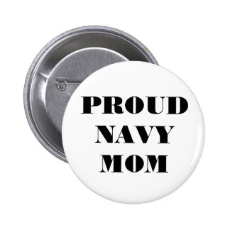 Mamá orgullosa de la marina de guerra del botón pin redondo de 2 pulgadas
