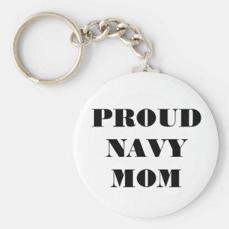 Mamá orgullosa de la marina de guerra del llavero