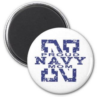 Mamá orgullosa de la marina de guerra imanes para frigoríficos