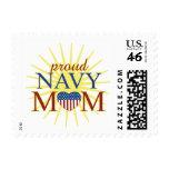 Mamá orgullosa de la marina de guerra sellos