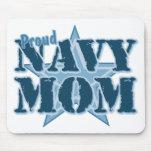 Mamá orgullosa de la marina de guerra alfombrillas de ratones