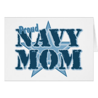 Mamá orgullosa de la marina de guerra tarjeta de felicitación