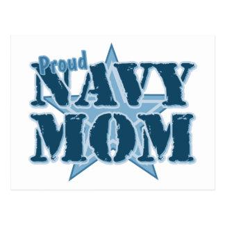 Mamá orgullosa de la marina de guerra tarjeta postal