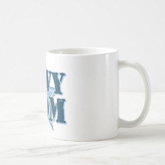 Mamá orgullosa de la marina de guerra taza de café