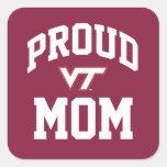 Mamá orgullosa de la tecnología de Virginia Pegatina Cuadrada