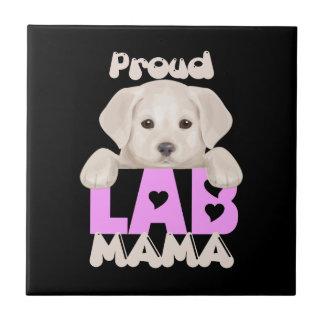 ¡Mamá orgullosa de Labrador! ¡Para las mamáes Azulejo Cuadrado Pequeño